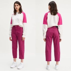 LEVI'S MADE & CRAFTED Barrel Women's Jeans Magenta